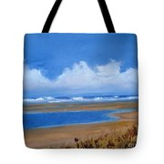 Beach In Norfolk, England Tote Bag