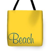 Beach In Sega Blue Tote Bag