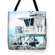 Beach Lifeguard Tower Tote Bag