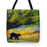 Beach Lunch - Black Bear Tote Bag