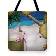 Beach Mural Tote Bag