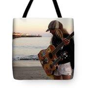 Beach Musician Tote Bag