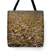 Beach Of Autumn Leaves Tote Bag
