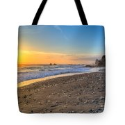 Beach Of Velella Tote Bag