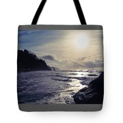Beach - Oregon - Golden Sun Tote Bag
