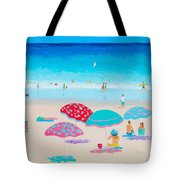 Beach Painting - A Golden Day Tote Bag