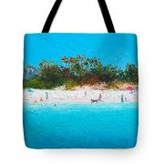 Beach Painting All Summer Long Tote Bag
