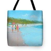Beach Painting 'beach Strolling' By Jan Matson Tote Bag