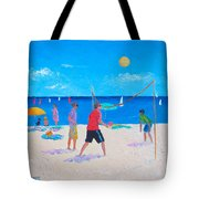 Beach Painting Beach Volleyball  By Jan Matson Tote Bag