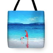 Beach Painting - Cooling Off Tote Bag