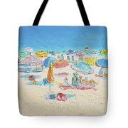 Beach Painting - Crowded Beach Tote Bag