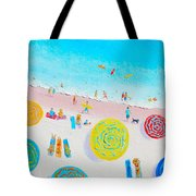 Beach Painting - Lazy Lingering Days Tote Bag