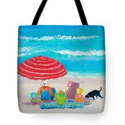 Beach Painting - One Summer Tote Bag
