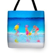 Beach Painting - Water Play  Tote Bag