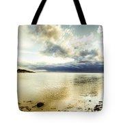 Beach Panorama Of A Sunrise Over The Sea Tote Bag