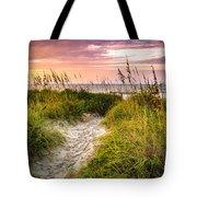 Beach Path Sunrise Tote Bag