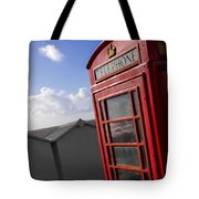 Beach Phonebox Tote Bag