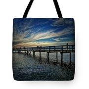Beach Pier Tote Bag