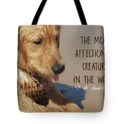 Beach Pup Quote Tote Bag