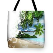 Beach Puzzle Tote Bag