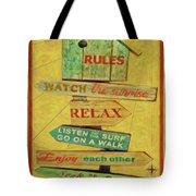 Beach Rules  Tote Bag