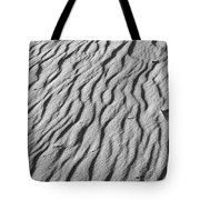 Beach Sand Mantle In Monochrome Tote Bag