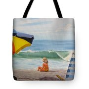 Beach Scene - Childhood Tote Bag