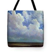 Beach Scene Albert Bierstadt Tote Bag