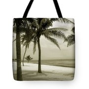 Beach Scene In Key West Tote Bag