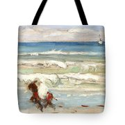 Beach Scene Tangier Tote Bag