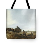 Beach Scene With Fishermen Tote Bag