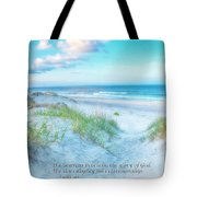 Beach Scripture Verse  Tote Bag