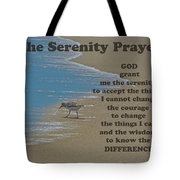 Beach Serenity Prayer Tote Bag