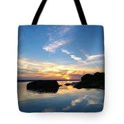 Beach Skyset On A Cornish Beach Cornwall Tote Bag