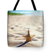 Beach Starfish Wood Texture Tote Bag