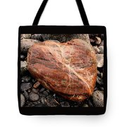 Beach Stone Heart Tote Bag