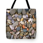 Beach Stones And Pebbles Tote Bag by Sophie De Roumanie