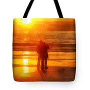 Beach Sunrise Love Tote Bag