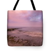 Beach Sunset In Connecticut Landscape Tote Bag