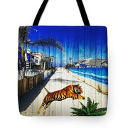 Beach Tiger  Tote Bag