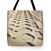Beach Tracks Tote Bag