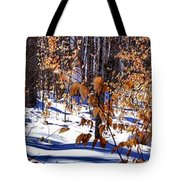 Beach Tree's In Winter Tote Bag