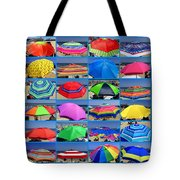 Beach Umbrella Medley Tote Bag