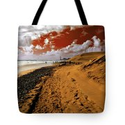 Beach Under A Blood Red Sky Tote Bag