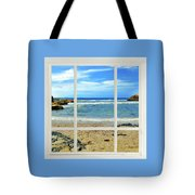 Beach View From Your Living Room Window Tote Bag