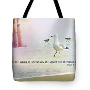 Beach Walk Quote Tote Bag