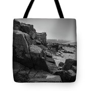 Beach With Anti-pylons Tote Bag