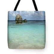 Beach With Big Rock Ahead Vertical Bermuda Tote Bag