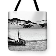 Beached At Coorong Bw Tote Bag
