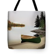 Beached Canoe In Muskoka Tote Bag